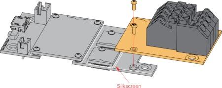 Sposób montażumodułu z płytką bazową.
