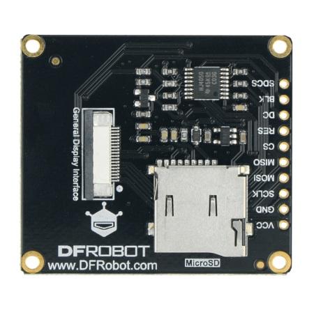 Wyposażony w układ kontrolera ST7789, współpracuje z popularnymi mikrokontrolerami takim jak Arduino UNO, Leonardo czy ESP32.