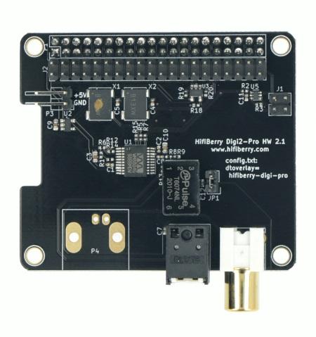 HiFiBerry Digi2 Pro - karta dźwiękowa do Raspberry Pi 4B/3B+/3/2/B+/A+/Zero.