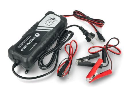 Ładowarka do akumulatorów, prostownik samochodowy automatyczny do akumulatora 12V/24V EverActive CBC-10 v2