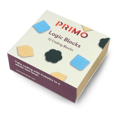 Zestaw zawiera 12 klocków logicznych o trzech zastosowaniach: funkcyjne, negocjacyjne oraz losowe.