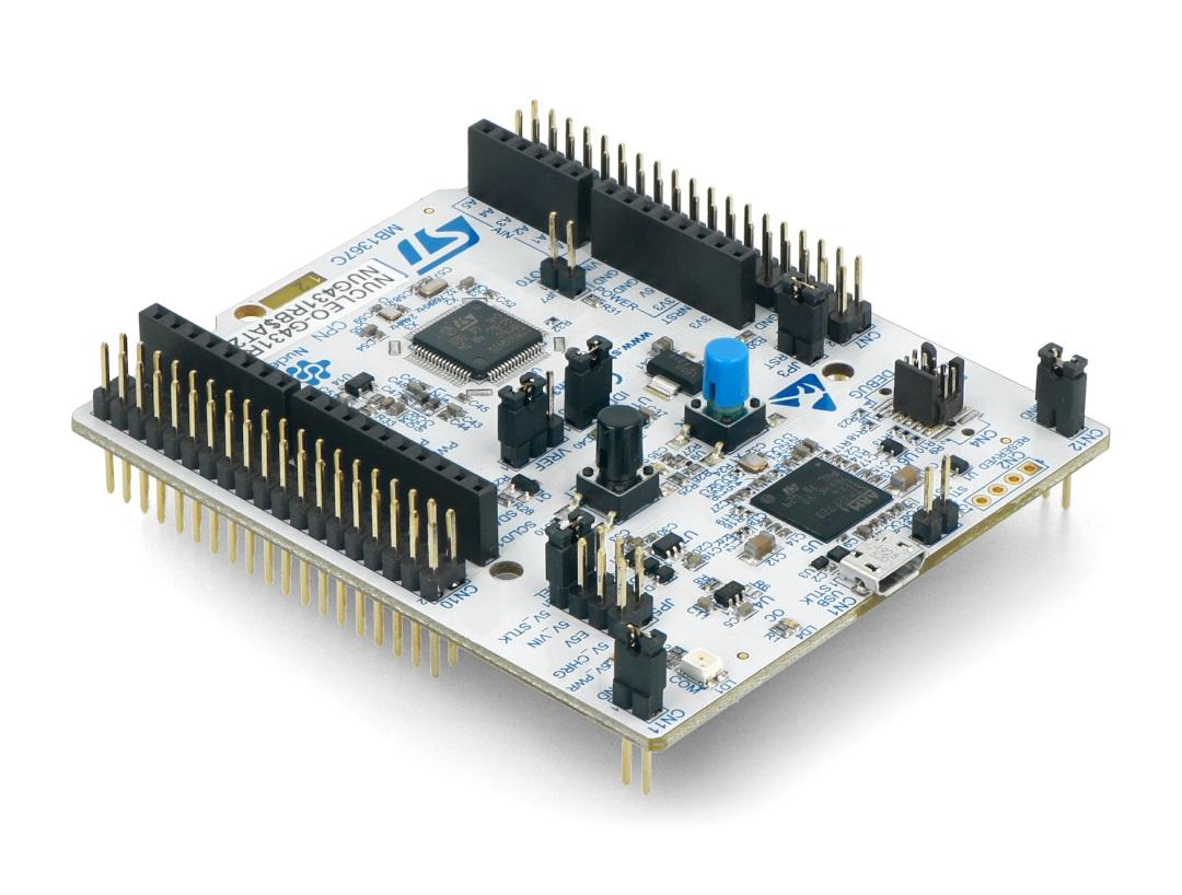 Moduł wyposażony jest w mikrokontroler STM32G431RB