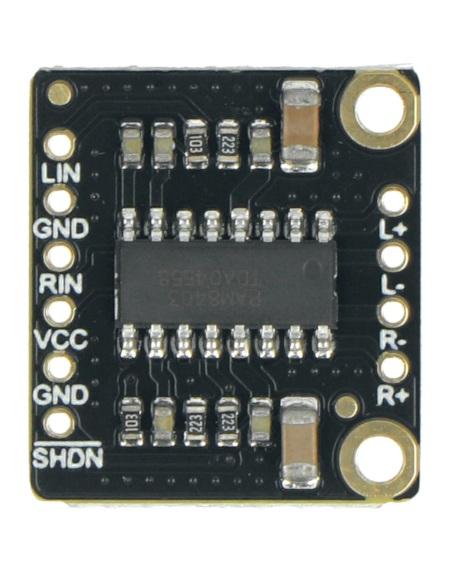 Fermion - mini wzmacniacz stereo/audio 3 W wyprodukowany przez DFRobot.