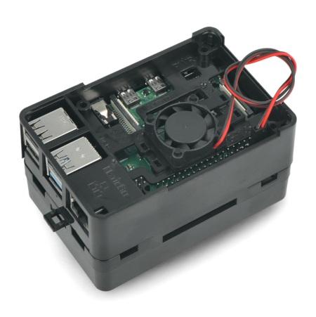 Wentylator 25x25x7mm do obudowy Raspberry Pi 4B - złącze żeńskie 2,54 mm